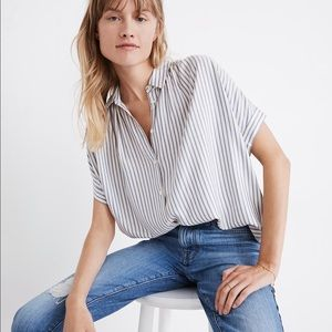 Madewell Blue Stripe Central Shirt Dalton Stripe S
